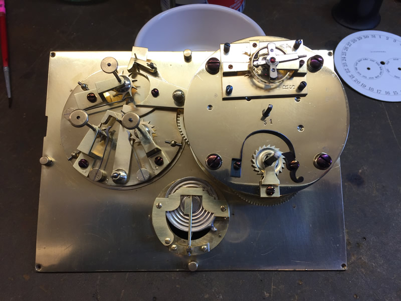 Elkington clock Assembled movement