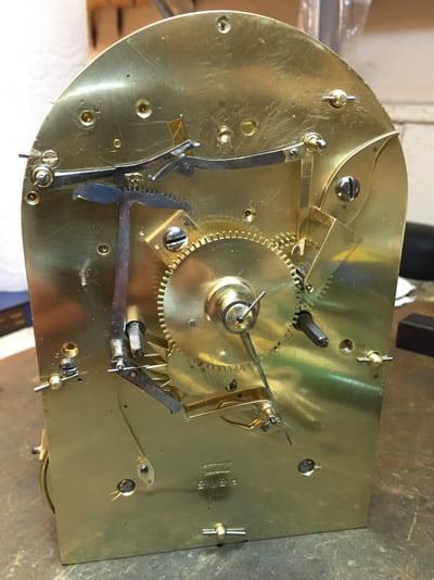 Grant bracket clock movement restored