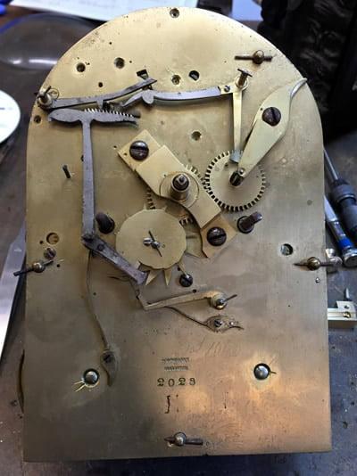 Grant bracket clock unrestored movement