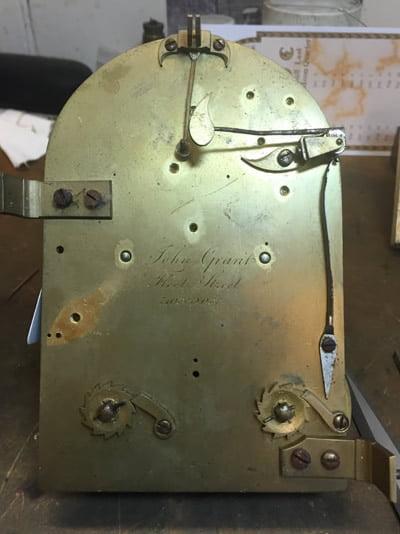 Grant bracket clock unrestored
