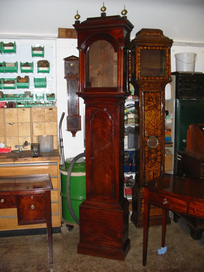 Longcase clock case restoration