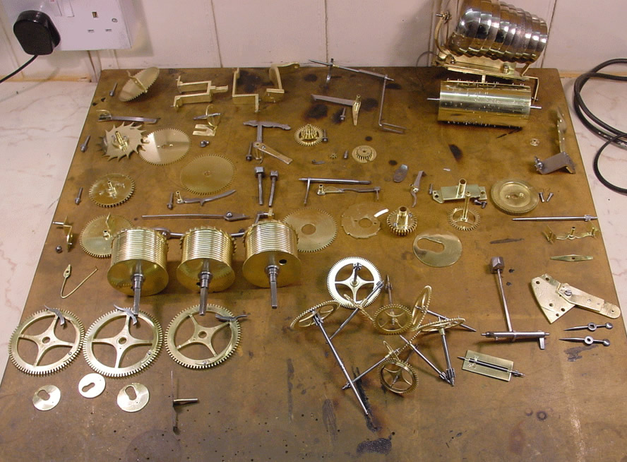 restored parts before assembly
