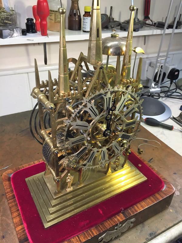 Skeleton Clock before dismantling