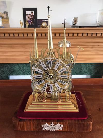 Restored Skeleton Clock by James Whitelaw