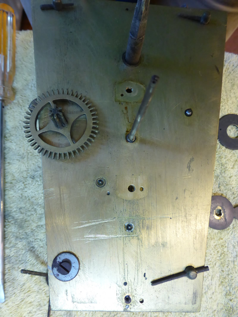 Before restoration Wall Tavern Clock by Andrews of Dover