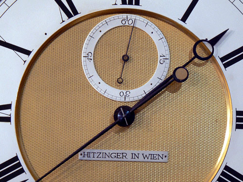 Viennese Laterndl clock dial close up