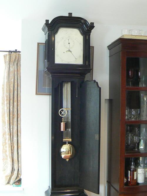 John Knibb Lantern clock before restoration completed clock
