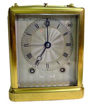 Carriage clock by Paul Garnier