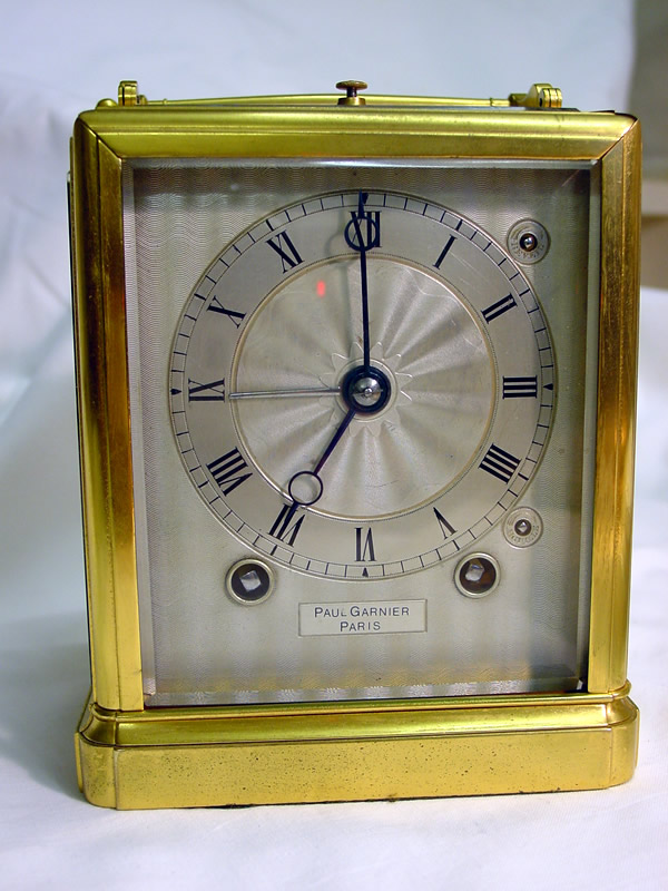 Carriage clock by Paul Garnier C1840, quarter strike repeat with alarm on bells